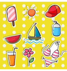 various objects vector image vector image