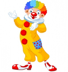 clown presenting vector image vector image