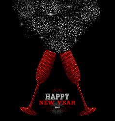 happy new year 2017 red party drink vector image vector image