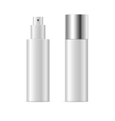 realistic template blank white spray cosmetic tube vector image vector image