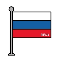 russia patriotic flag isolated icon vector image vector image