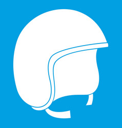 Safety helmet icon white vector