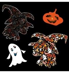 Symbols of halloween vector