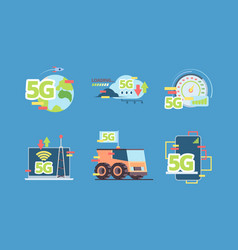 5g technology future fast online connection vector