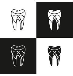 abstract dental logo design vector image