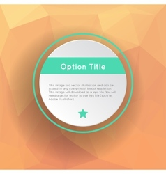 Abstract inforgraphics options vector image