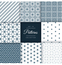 Abstract set of pattern in geometric style vector