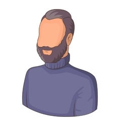 Avatar man with beard icon cartoon style vector