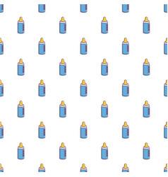 baby milk in bottle pattern seamless vector image