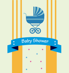 baby shower design over yellow background vector image