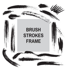 brush strokes border frame - concept background ba vector image