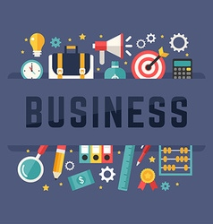 business concept with flat style icons vector image