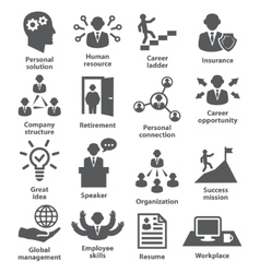 Business people management icons vector