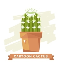 Cactus flower cactus isolated vector image