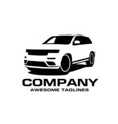 Car silhouette logo vector