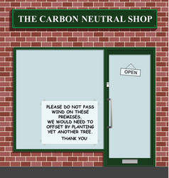 carbon neutral shop vector image