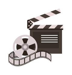 Clapperboard film icon image vector