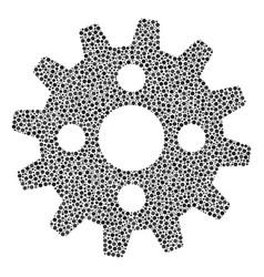 cogwheel mosaic of small circles vector image