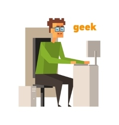 Computer Geek Abstract Figure vector