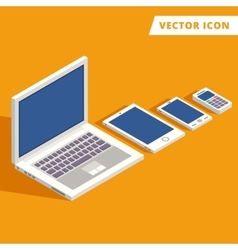 computer tablet smart-phone vector image