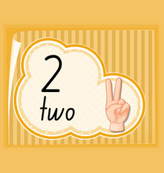 Count two with hand gesture vector