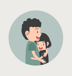 couple in love hugging vector image