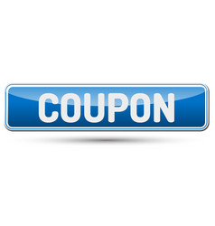 coupon - abstract beautiful button with text vector image vector image