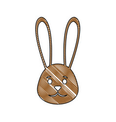 Cute easter bunny cartoon vector
