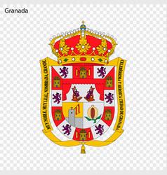Emblem of granada city of spain vector