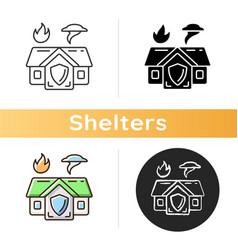 emergency shelter icon vector image