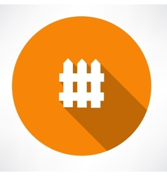 Fence icon vector