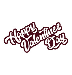 happy valentines day emblem greeting card vector image