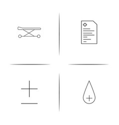 Healthcare and medical simple linear icons set vector