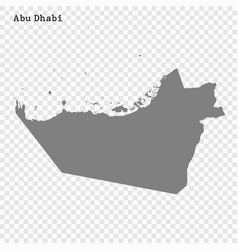 High quality map is a emirate united arab vector