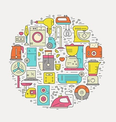 Home Appliances Template vector