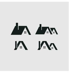 Home icon set logo template design vector