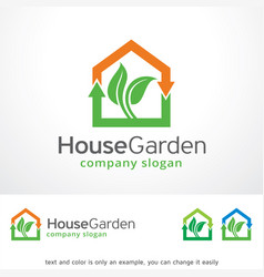 House garden logo template design vector