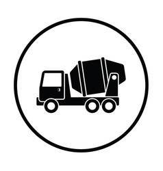 icon of concrete mixer truck vector image