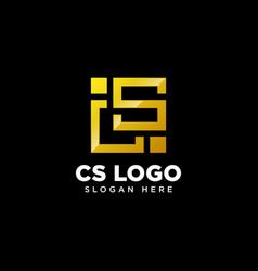 Initials monogram cs sc letter logo design vector