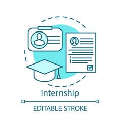 Internship concept icon part-time job vector