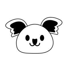 Koala cute animal cartoon icon image vector