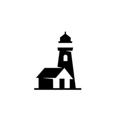 lighthouse icon simple lighthouse icon vector image