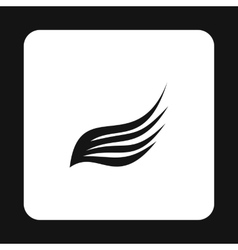 Long wing icon simple style vector