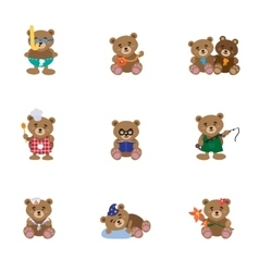 Lovely Bears Flat vector