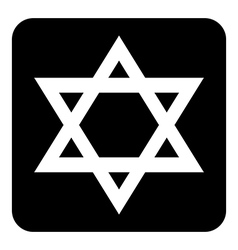 Magen David symbol button vector