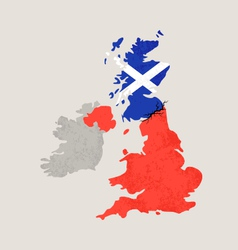 map united kingdom with crack vector image