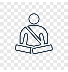 meditation concept linear icon isolated on vector image