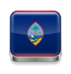 Metal icon of Guam vector image