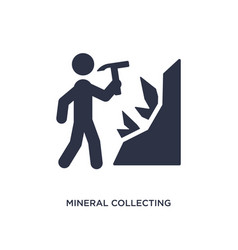 Mineral collecting icon on white background vector
