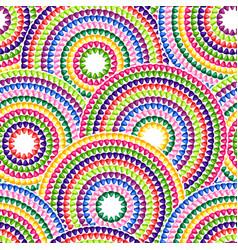 Mosaic ceramic tile seamless pattern decorative vector